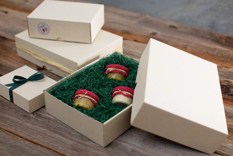 Schachtel aus Graspapier