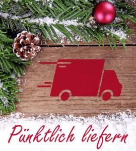 Pünktlich liefern beim Online-Weihnachtsgeschäft