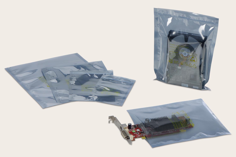 ESD-Beutel mit Druckverschluss oder offen und siegelfähig