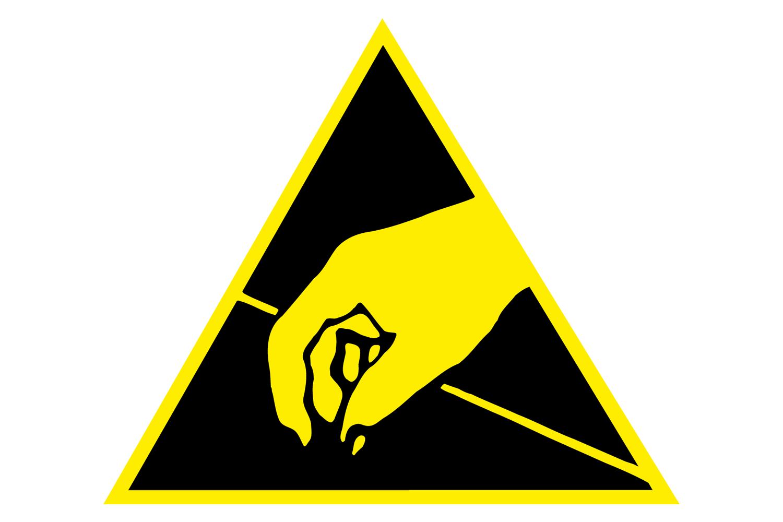 Das Symbol für ESD-Schutz