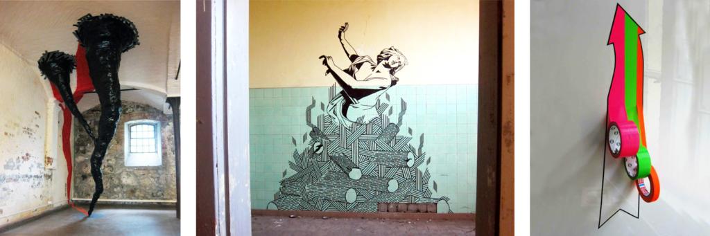 Klebeband-Kunst von Slava Ostap und Buff Diss