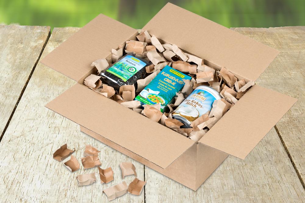 Papierverpackungschips sind nachhaltig