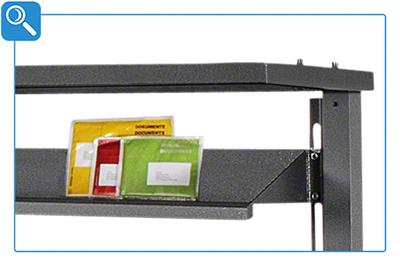 Materialablage für Packtisch
