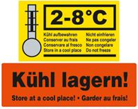 Warnetikett für Isolierverpackungen