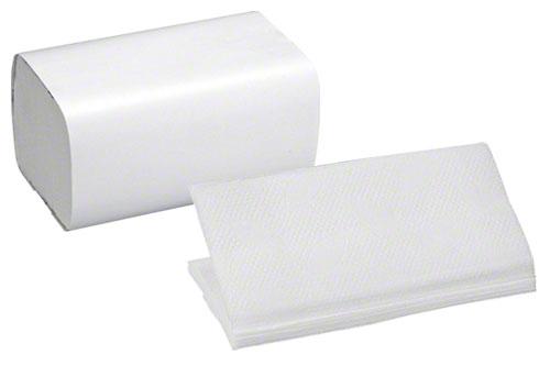 Papierhandtücher gefaltet