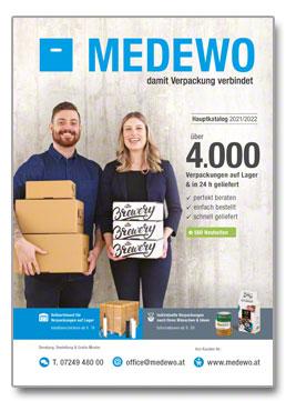 Cover MEDEWO-Hauptkatalog Österreich 21/22