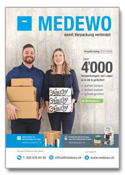 Cover MEDEWO-Hauptkatalog Schweiz 21/22
