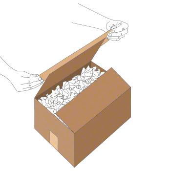 Verschluss mit Nassklebeband bei kleinem Karton - Schritt 1