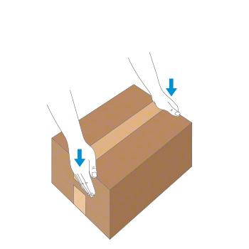 Verschluss mit Nassklebeband bei kleinem Karton - Schritt 3