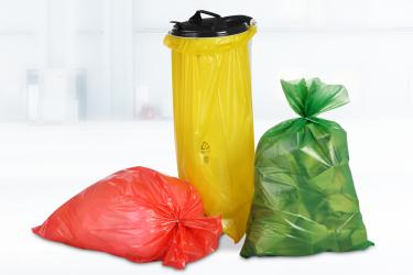 Farbige Abfallsäcke haben Signalwirkung