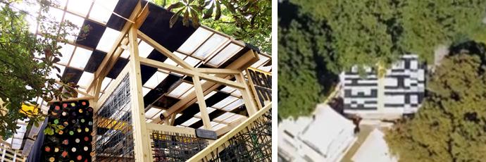 Blick auf das Dach der RememBar