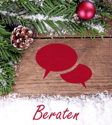Kunden beraten beim Online-Weihnachtsgeschäft