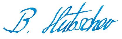 Signatur Bernhard Hübscher