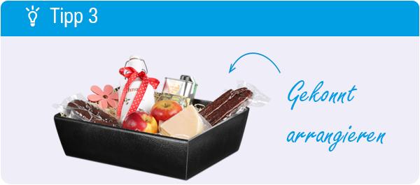Tipp Geschenkkorb packen: Gekonnt arrangieren