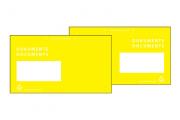 Dokumententasche in Gelb
