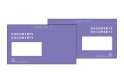 Dokumententasche in Violett