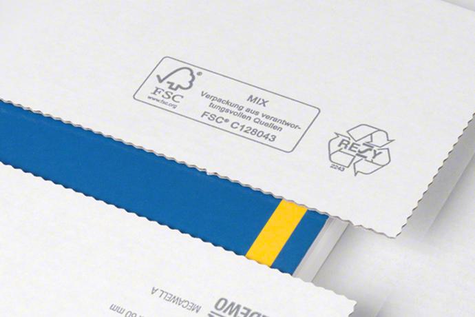 Medienverpackung mit FSC-Zertifizierung