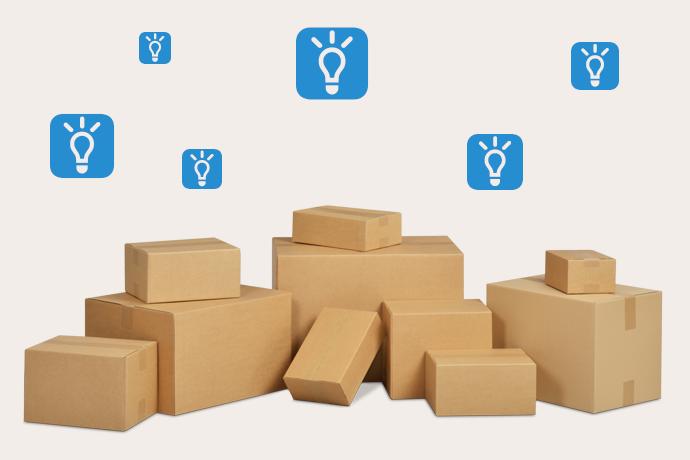 Karton kann nicht nur als Versandverpackung nützlich sein, sondern auch den Alltag erleichtern