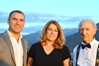 Firmengründer Karl Meier mit Familie Schett
