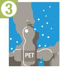 Herstellung rPET-Tasche: Reinigung Flaschen