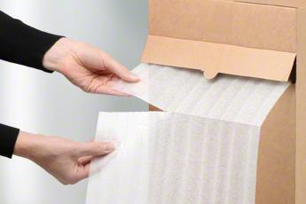 Material im Spenderkarton: kompakt & sauber