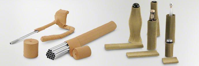 Wellpapphülsen und Dehncrepppapier als nachhaltiger Oberflächenschutz