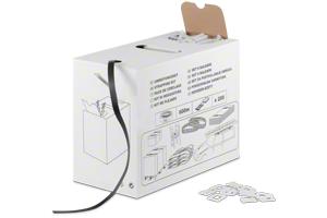 Umreifungsset mit PP-Band und Schnallen im Spenderkarton