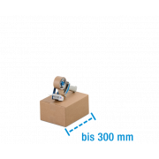 Boîte pliable simple & double cannelure brune, longeur à max. 300mm