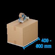 Boîte pliable simple & double cannelure brune, 400-600 mm