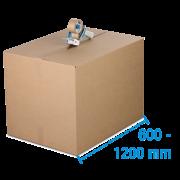 Boîte pliable simple & double cannelure brune, de 600mm