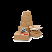 Boîte pliable simple cannelure brune