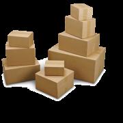 Boîte pliable double cannelure brune