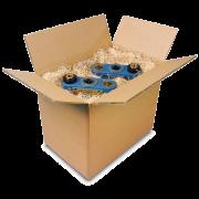 Boîte pliable triple cannelure brune
