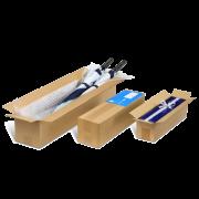 Boîte pliable longue – ouverte vers le haut