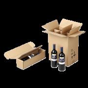 Carton d'expédition pour bouteilles