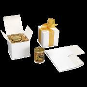 Boîte en carton blanc avec fond automatique