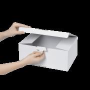 QUICK-BOX® blanche avec fond automatique