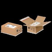 Boîte d'expédition ECO avec deux fermetures adhésives