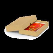 Boîte à couvercle brune