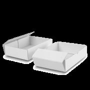 Boîte à couvercle blanche