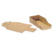 Boîte de rangement en carton ondulé