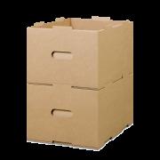 Bac KLT (support de petites charges) en carton ondulé, empilable