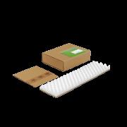 SOFT-PAC étui-fourreau en carton brun avec calage en mousse intégré