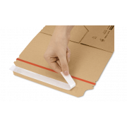 MECAWELL® A brun Emballage pour livres et catalogues