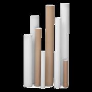 Tube d'expédition en carton blanc