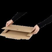 Emballage pour produits plats et calendriers brun