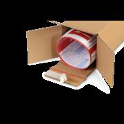 Boîte pliable longue avec fermeture adhésive