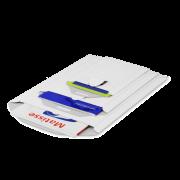MECASTAR® Pochette d'expédition en carton avec fermeture par patte rentrante