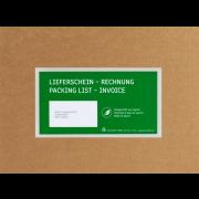 MECOUVERT® PAPER Pochette adhésive porte-documents dans un carton distributeur