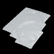 Pochette transparente à accrocher avec trou rond et rabat
